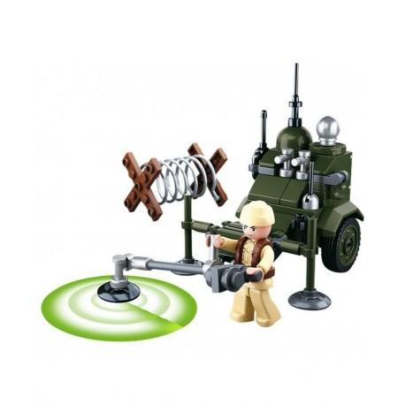 Sluban WWII Mine Detector Sweeper construction brick Army Childs Toy B0678D