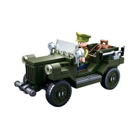 Sluban WWII Allied Ground Attack Aircraft construction brick Army Childs Toy