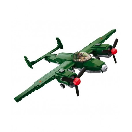 Sluban WWII Allied Bomber Airplane Construction brick set Army Childs Toy B0688