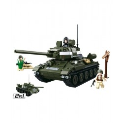 Sluban WWII Allied Medium Tank 2in1 Construction brick set Army Childs Toy B0689