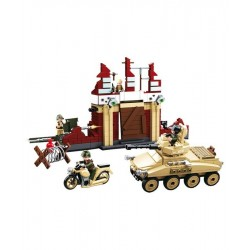 Sluban WWII Battle Army Vehicle Figures Construction brick set Army Childs B0696