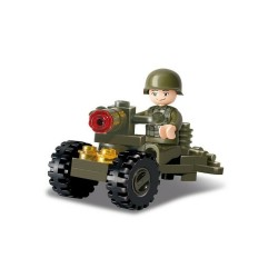 Sluban  Army Soldier & Cannon  Army Construction brick set Childs B0118