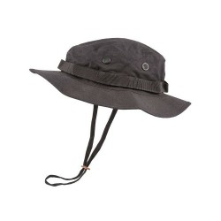 BLACK ARMY CADET STYLE RIPSTOP WIDE BRIMMED BOONIE HAT SUN HAT AIRSOFT