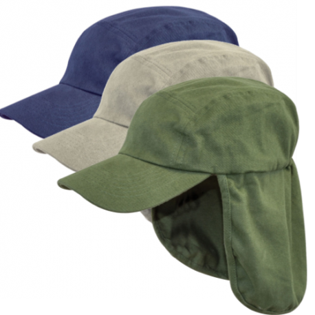 Legionnaires Hat Sun Hat Kepi Neck Flap Cotton Peaked Navy Green XL 60-63cm