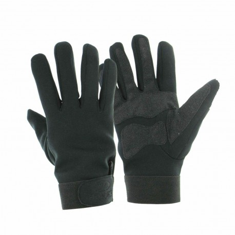 Highlander Military Style Neoprene Gloves Non Slip Palm Black Strap Adjuster