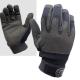 Highlander Mission Lite Military Leather Suede Gloves Black Lightweight