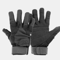 Highlander Mission Military Leather Suede Gloves Black