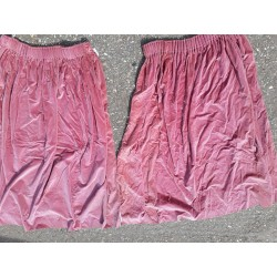 Genuine Military Officers Mess Curtains Pink Velvet 165cm wide x 140cm drop (501