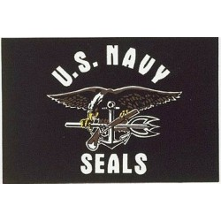 US Navy Seals FLAG 5' x 3' US Army Military Regiment Armed Forces United States