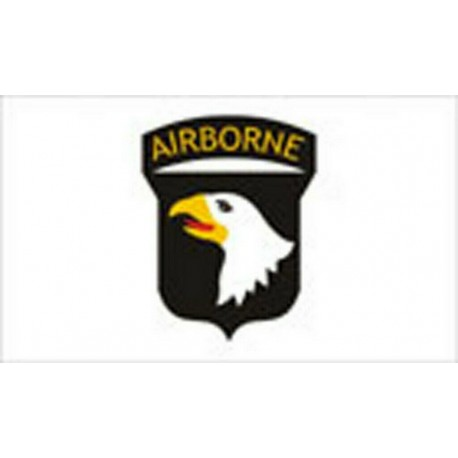 101st Airborne FLAG WHITE 5' x 3' US Army Military Regiment Forces United States