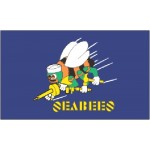 US Flying Seabees FLAG 5' x 3' US USAF Military Regiment Forces United States