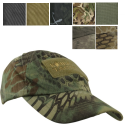KT Operators Cap Baseball Cap Ripstop Hook Loop Patches BTP Black Olive Tan