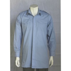Genuine Surplus British RAF Long Sleeve Dress Shirt Military Pale Blue
