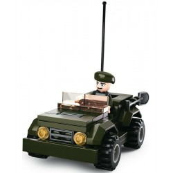 Sluban  Military Jeep Figure Army Construction brick set Childs B0587F