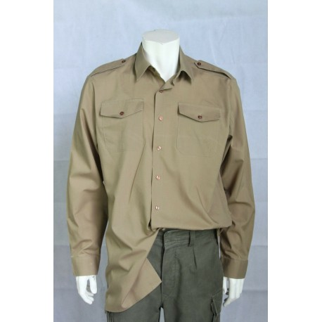 Genuine Surplus British Army khaki Long/Short Sleeve Polycotton Shirt All Size