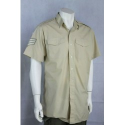 Genuine Badged British Army Fawn Long/Short Sleeve Polycotton Shirt All Size