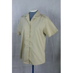 Genuine Surplus British Army Fawn Long/Short Sleeve Polycotton Shirt Womens