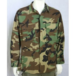 Genuine Surplus Vintage US Army Woodland Camouflage BDU Jacket NoBadges all size