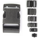 Side Release Buckles Black Plastic Clips Belts Rucksacks  Replacement All Sizes