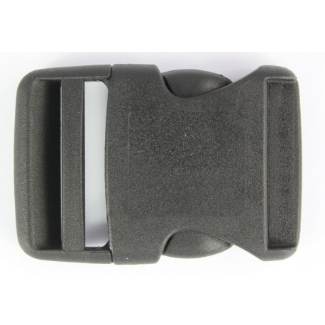 Rounded Side Release Buckles Black Plastic Clips Rucksacks Replacement All Sizes