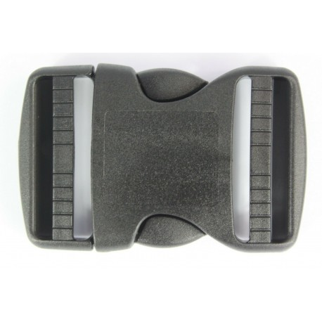 Double Side Release Buckles Black Plastic Clips Rucksacks Replacement All Sizes