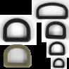 D-Rings Dees Buckles Black Tan Plastic Loops Rucksacks Replacement All Sizes