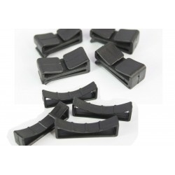 Webbing Loop Stays / Retainer Buckle Black Plastic Rucksac Replacement All Sizes