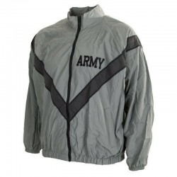 Genuine Surplus US Army Tracksuit Jacket Physical Fitness Grey All Size