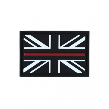 KT Thin Red Line Fire Fighter Rescue  PVC Rubber Morale Patch tactical hook 3D