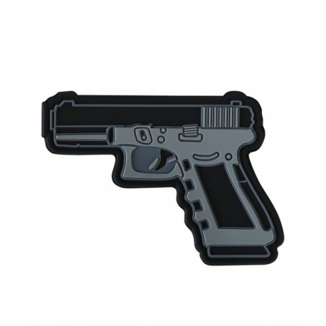 KT Pistol Gun PVC Rubber Morale Patch tactical hook Army Airsoft 3D