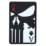 KT Ace of Spades PVC Rubber Morale Patch tactical hook Army Airsoft 3D