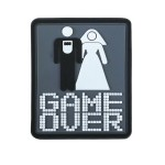 KT Game over Marriage PVC Rubber Morale Patch tactical hook Army Airsoft 3D