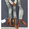 Genuine Surplus British Army RAF military Braces Grey leather End Button AllSize