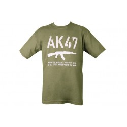 Kombat AK47 T-Shirt Olive Green Military Forces Army Humour