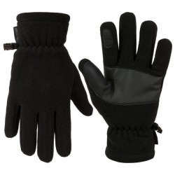 Highlander Polar Fleece Gloves Non Slip Palm Black Thermal Winter