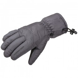 Highlander Ski Gloves Winter Thermal Non Slip Palm Black Mens Womens