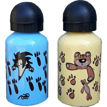 HIGHLANDER Re-usable Strong Aluminium 500ml Water Bottle Kids Fun Cute Designs