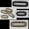 Square Ring Slider Buckles Black Tan Plastic Loops Rucksacks Replacement  Sizes