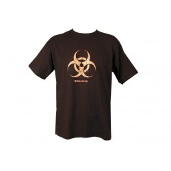Kombat Bio Hazard T-shirt Black Cotton Humour Funny