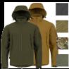 Highlander Tactical Hooded Softshell Jacket Water Resistant Black Olive Tan HC
