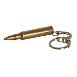 Kombat 556 Bullet Keyring Gold Coloured Metal