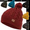 Knitted Bobble Hat Ski Thermal Winter Warm Fleece Lin Green Black Grey Red Yello