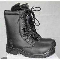 Highlander Pathfinder Black Leather Combat Boot Hi Leg Goth Punk Military Forces