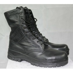 Highlander Classic Black Leather Combat Boot Hi Leg Goth Punk Military Forces