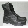 Highlander Classic Black Leather Combat Boot Hi Leg Goth Punk Military Forces