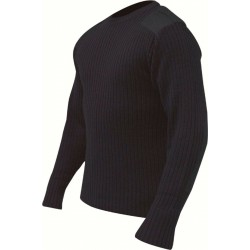 ED Highlander Crew Neck V-Neck Pullover Navy Blue Jumper Military Forces Outdoor