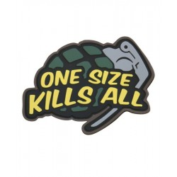 KT 'One Size' Grenade PVC Rubber Morale Patch tactical hook 3D Army Airsoft