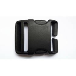 Highlander Quick Release Buckle 38mm/50mm Black Plastic Pair No Sew Rucksack