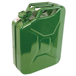 New Green Army Style Steel 20 litre Jerry Can Garage Camping Off Road Generator