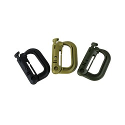 Rapid Locks Army Karabiner Clip Pair Military MOLLE  Forces Airsoft  Carabina